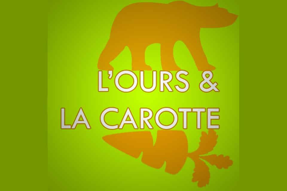 logo radio ours carotte
